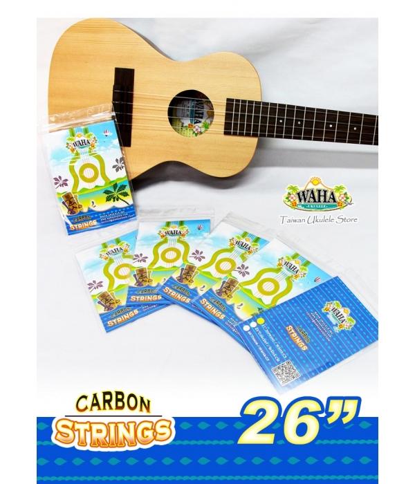 【台灣烏克麗麗 專門店】 哇哈WAHA 26吋 碳纖維透明弦 烏克麗麗專用琴弦