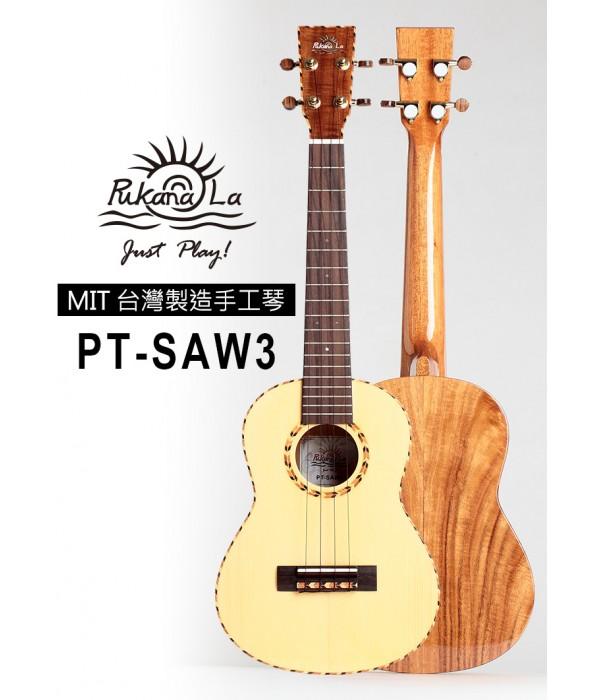 【台灣烏克麗麗 專門店】 Pukanala Ukulele PT-SAW3 全單板雲衫木 台灣製造頂級手工琴系列 (附琴袋+調音器+教材)