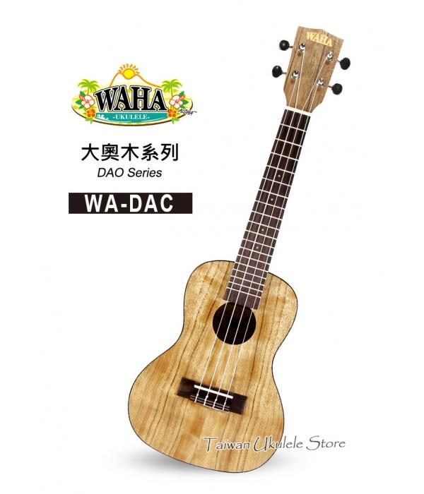 【台灣烏克麗麗 專門店】哇哈 WAHA Ukulele 23吋 大奧木 WA-DAC (附原廠琴袋+調音器+教材)