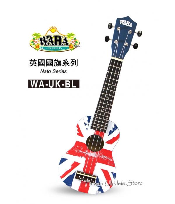 【台灣烏克麗麗 專門店】哇哈 WAHA UKULELE 21吋 英國國旗(藍) WA-UK-BL (附琴袋+教學小手冊)